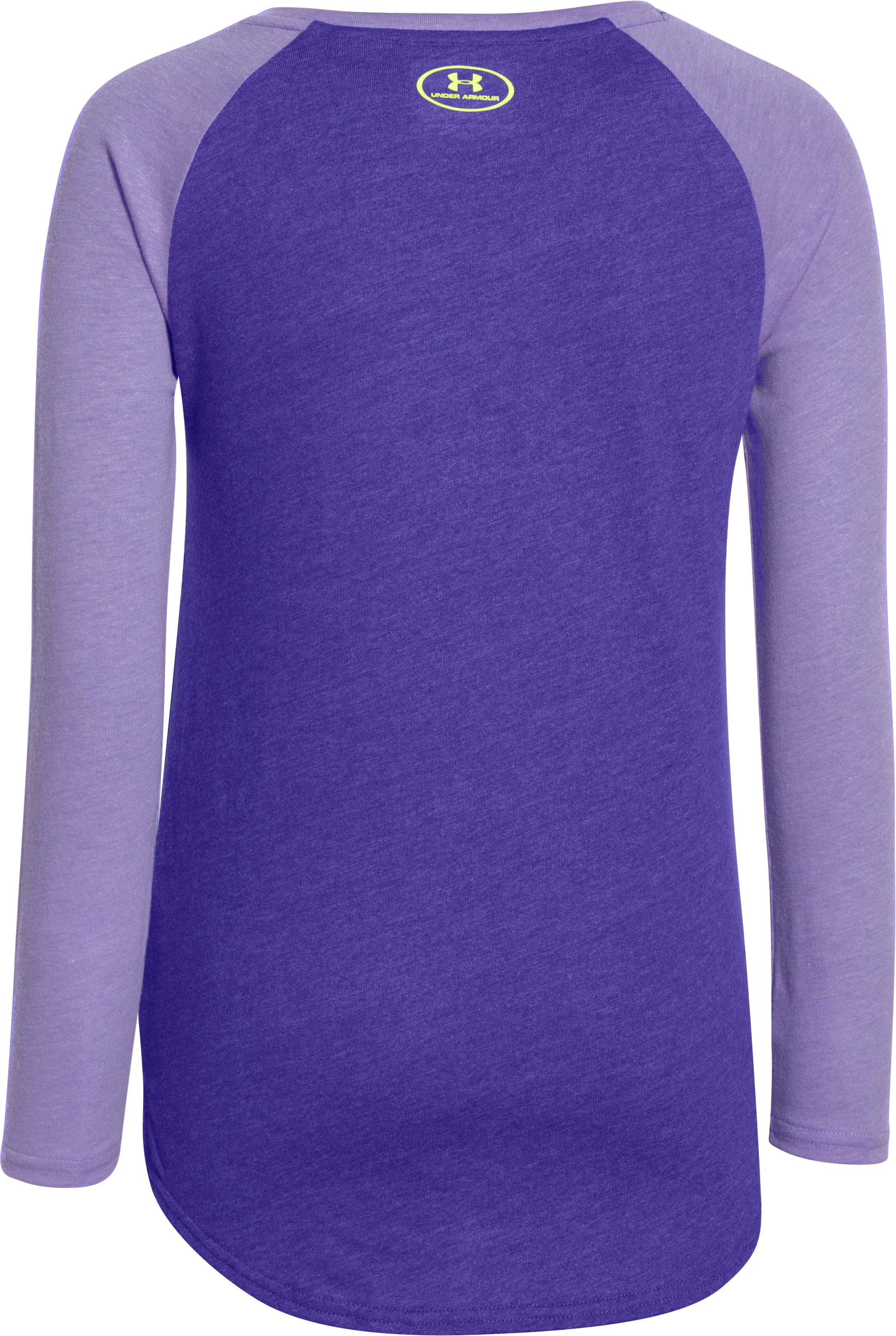 Girls' UA Been Good All Year Long Sleeve, CONSTELLATION PURPLE