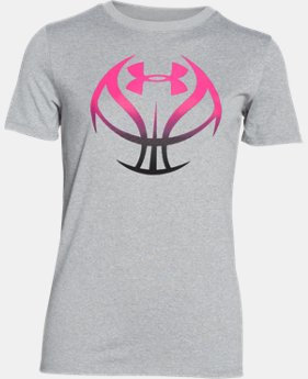 Girls' UA Basketball Graphic T-Shirt LIMITED TIME: FREE U.S. SHIPPING 1 Color $22.99