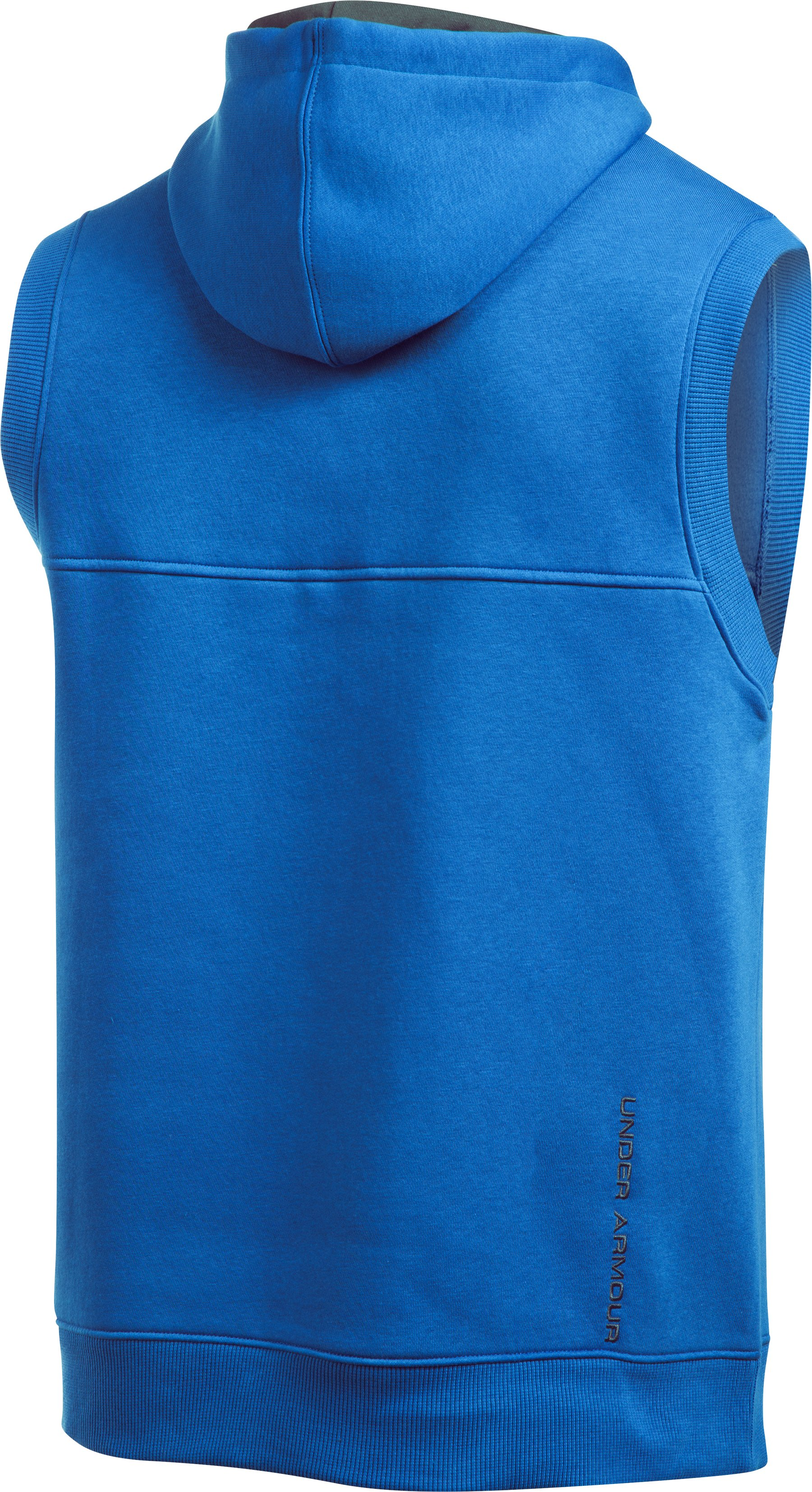 Men's UA Rival Fleece Sleeveless Hoodie, ULTRA BLUE