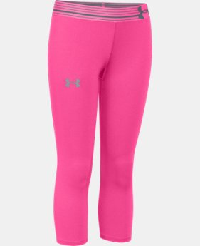 Girls' UA HeatGear® Armour Capri   $17.24