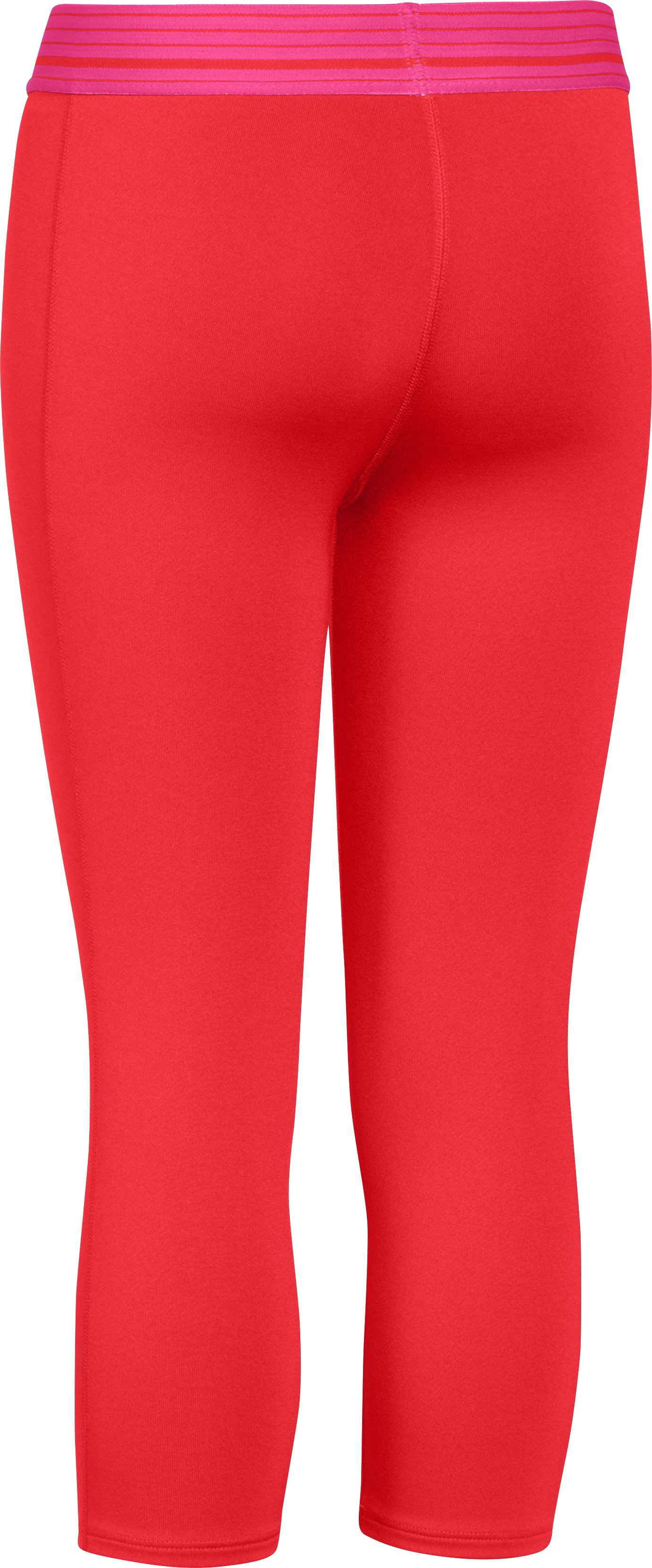 Girls' UA HeatGear® Armour Capri, Pomegranate, undefined