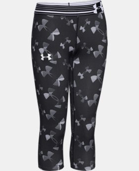 Girls' UA HeatGear® Armour Printed Capri  3 Colors $20.99 to $26.99