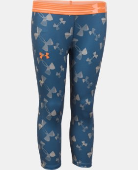 Girls' UA HeatGear® Armour Printed Capri  1 Color $20.99 to $26.99