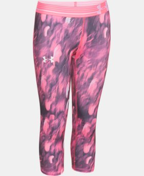 Girls' UA HeatGear® Armour Printed Capri LIMITED TIME: FREE U.S. SHIPPING 1 Color $15.74