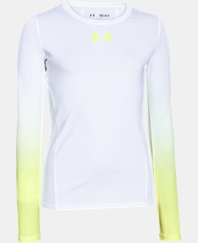 Girls' UA HeatGear® Armour Long Sleeve  4 Colors $17.99 to $22.99