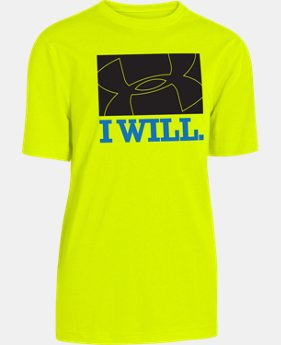 Boys' UA Chalk Big Logo T-Shirt  1 Color $14.99
