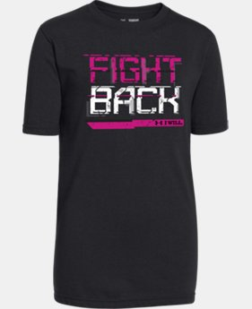 Boys' UA Power In Pink® Fight Back T-Shirt LIMITED TIME: FREE SHIPPING 1 Color $17.24