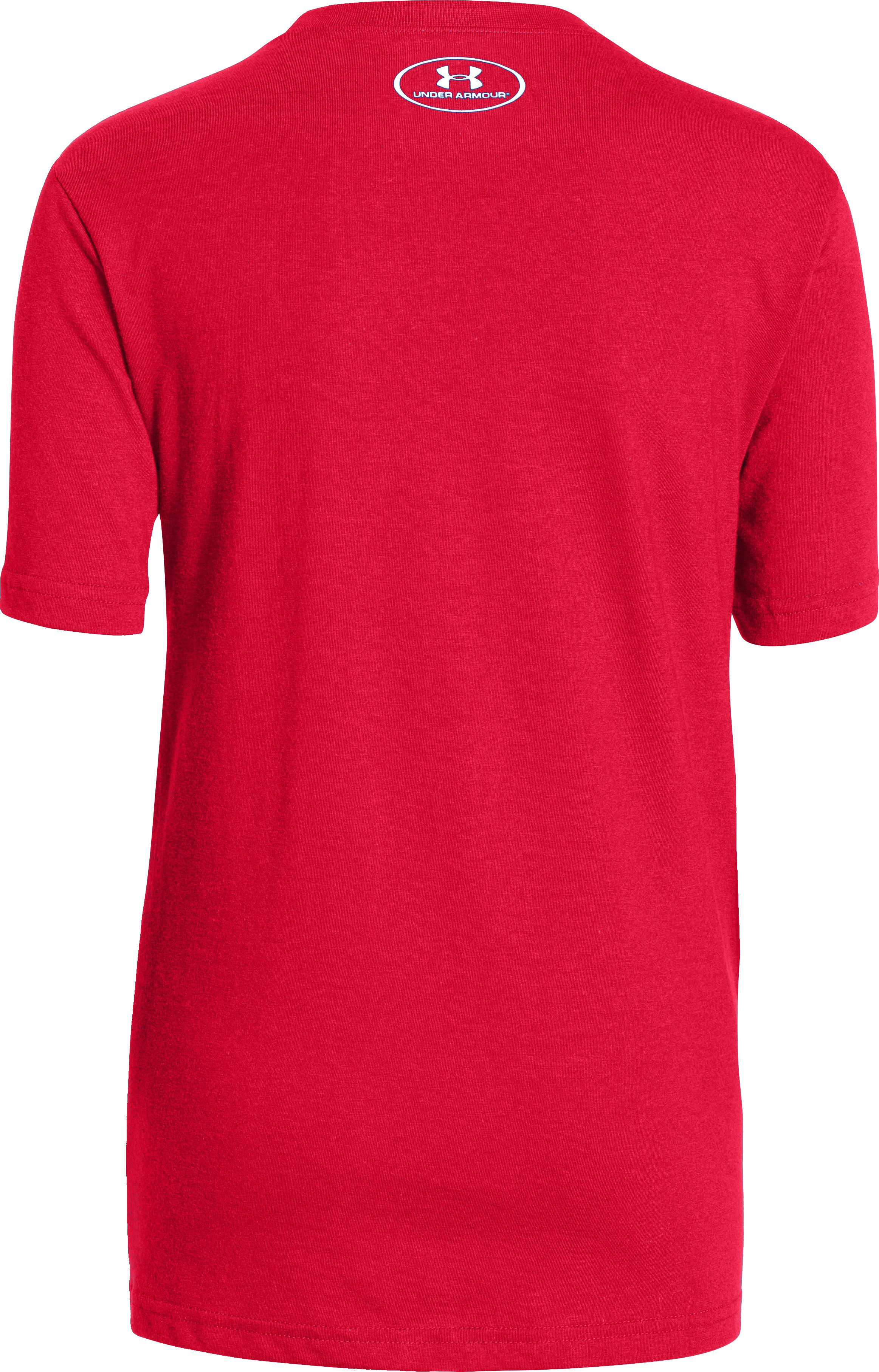 Boys' UA Ugly Sweater T-Shirt, Red