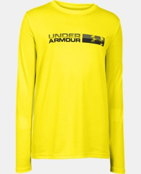 Boys' UA Back Stroke Long Sleeve T-Shirt LIMITED TIME: FREE U.S. SHIPPING 1 Color $18.99