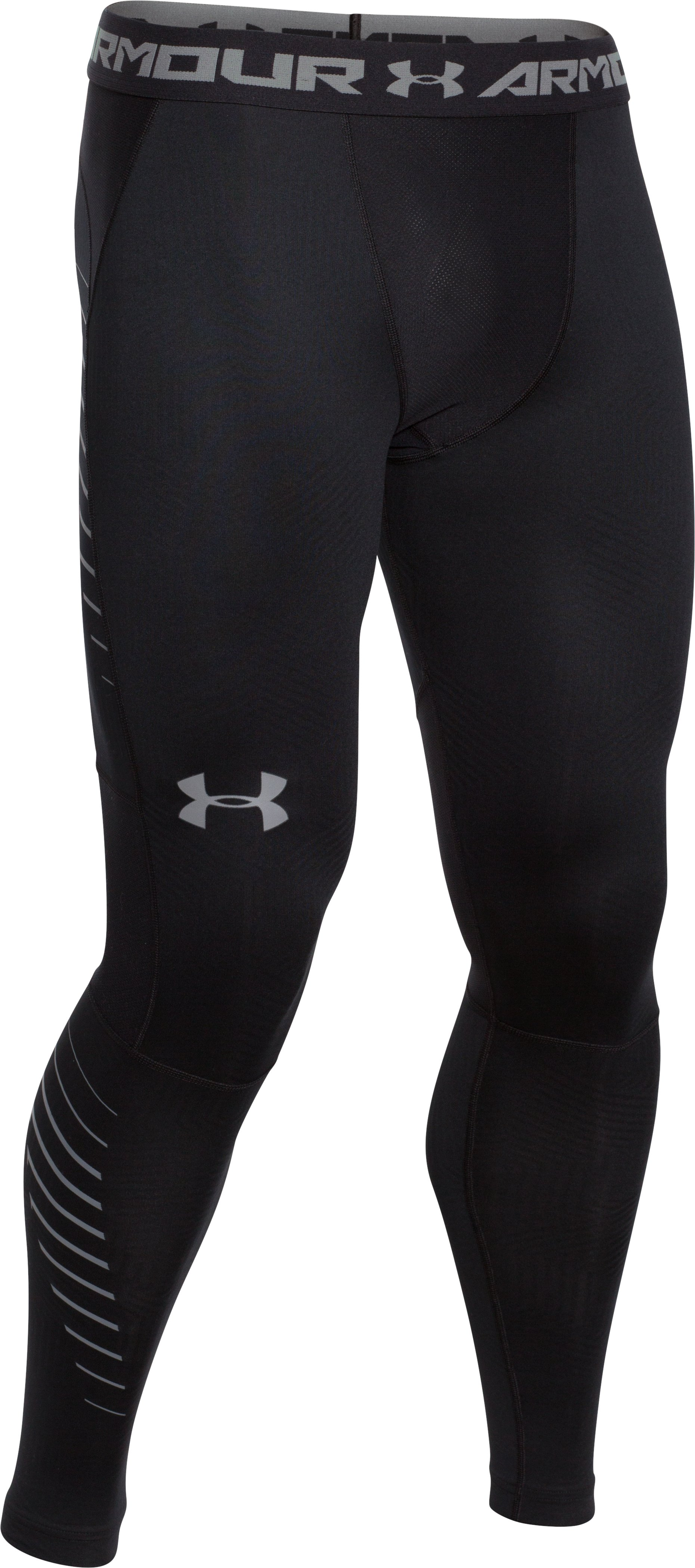 Men's UA ColdGear® Infrared Armour Compression Leggings, Black ,