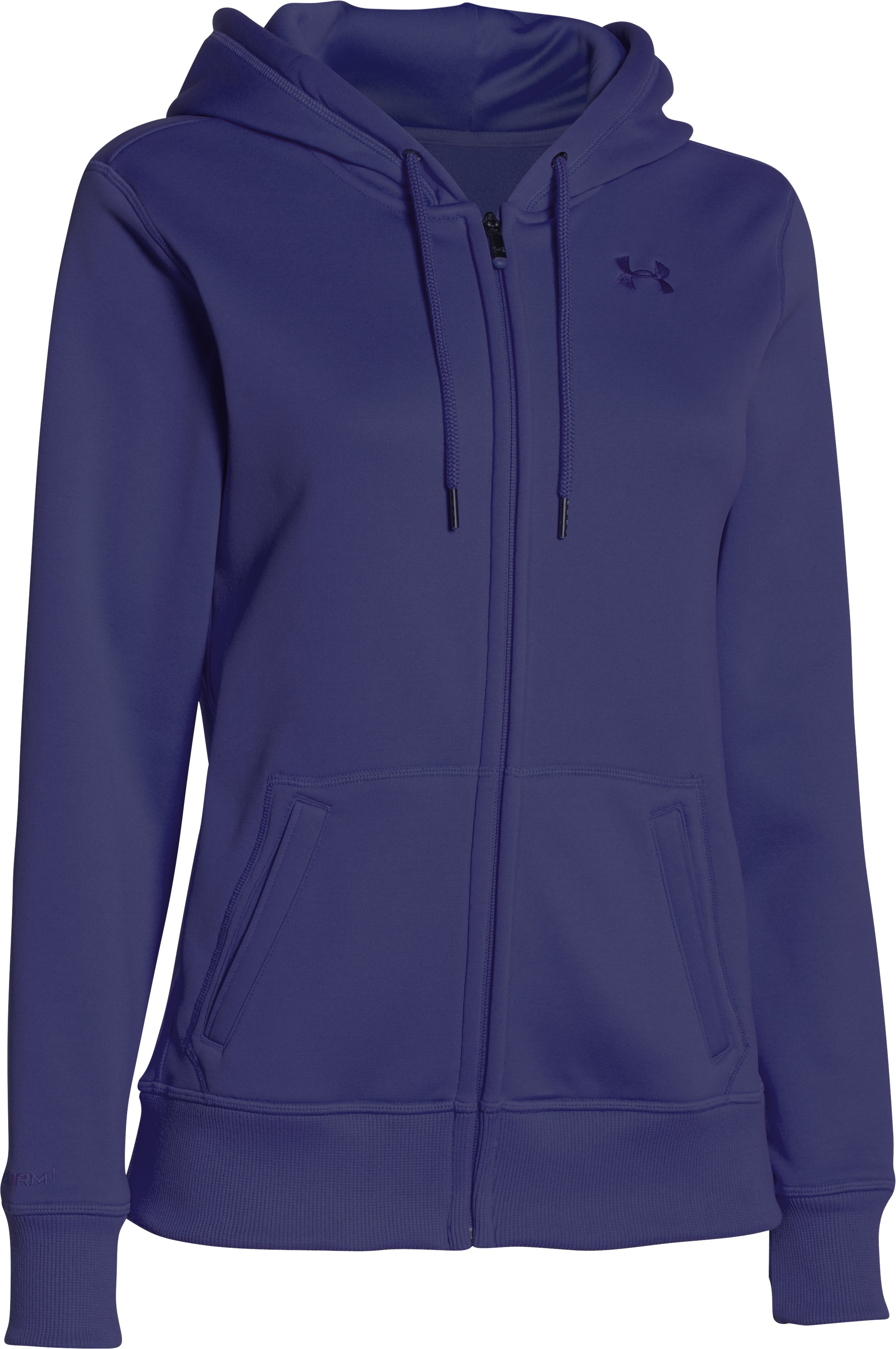 Women's UA Storm Armour® Fleece Big Logo Full Zip Hoodie, EUROPA PURPLE, undefined