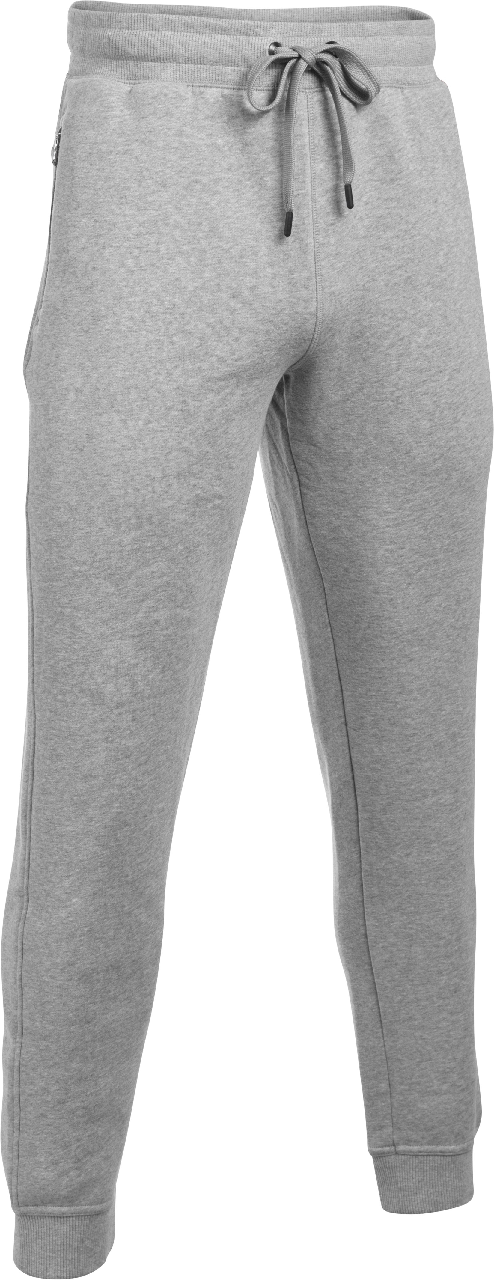 Men's UA SoHo Fleece Jogger Pants, True Gray Heather, undefined