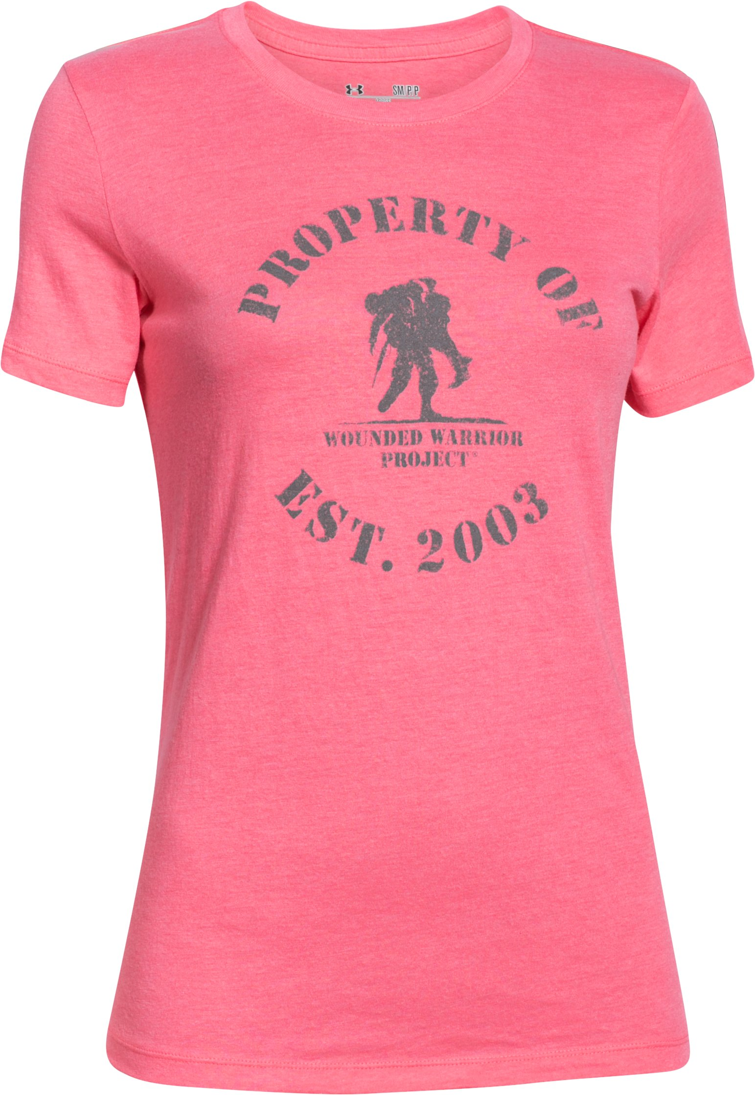 Women's UA WWP Property Of Short Sleeve, HARMONY RED