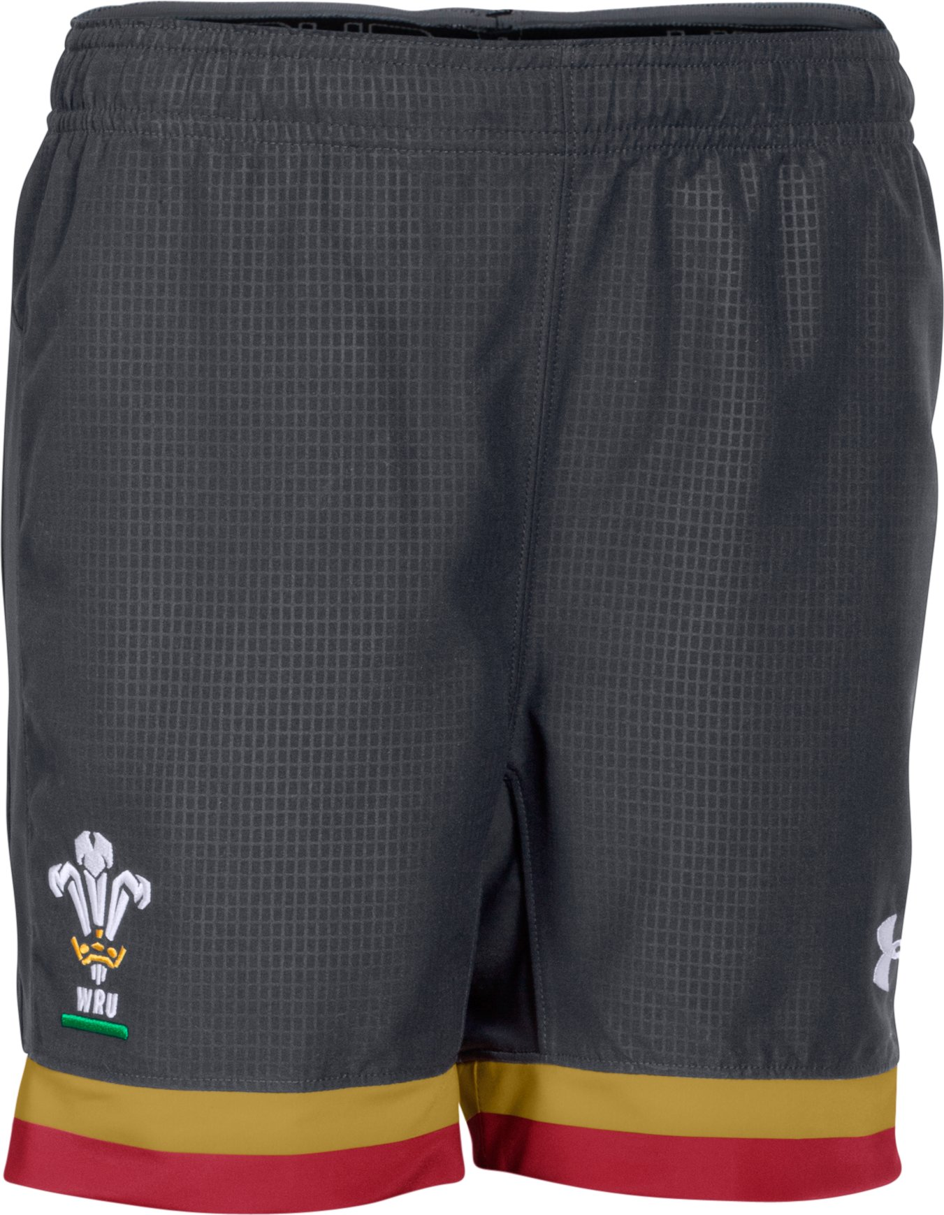 Boys' WRU Supporters 15/16 Shorts, ANTHRACITE