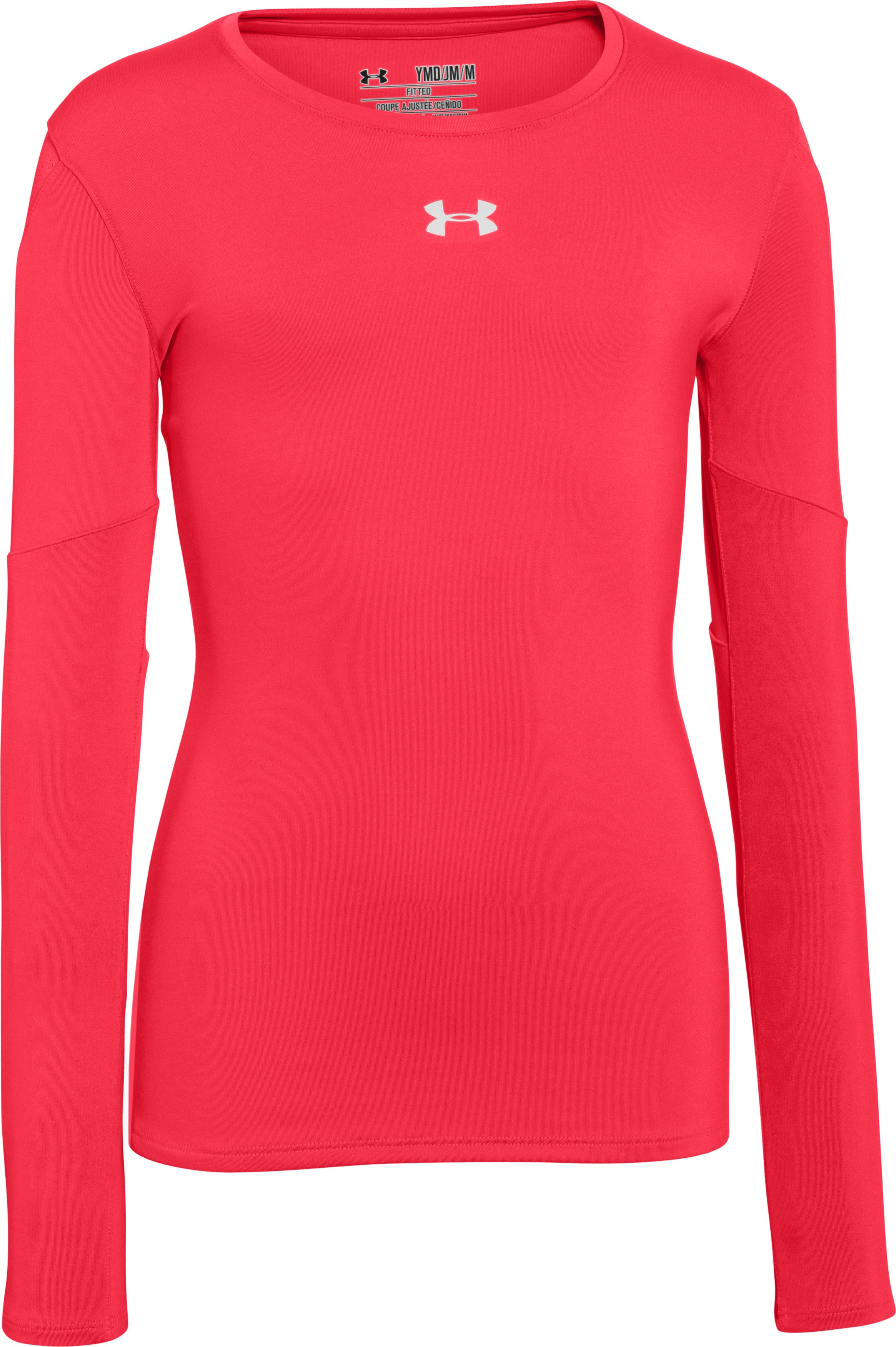 Girls' UA Block Party Long Sleeve Jersey, Neo Pulse, zoomed image