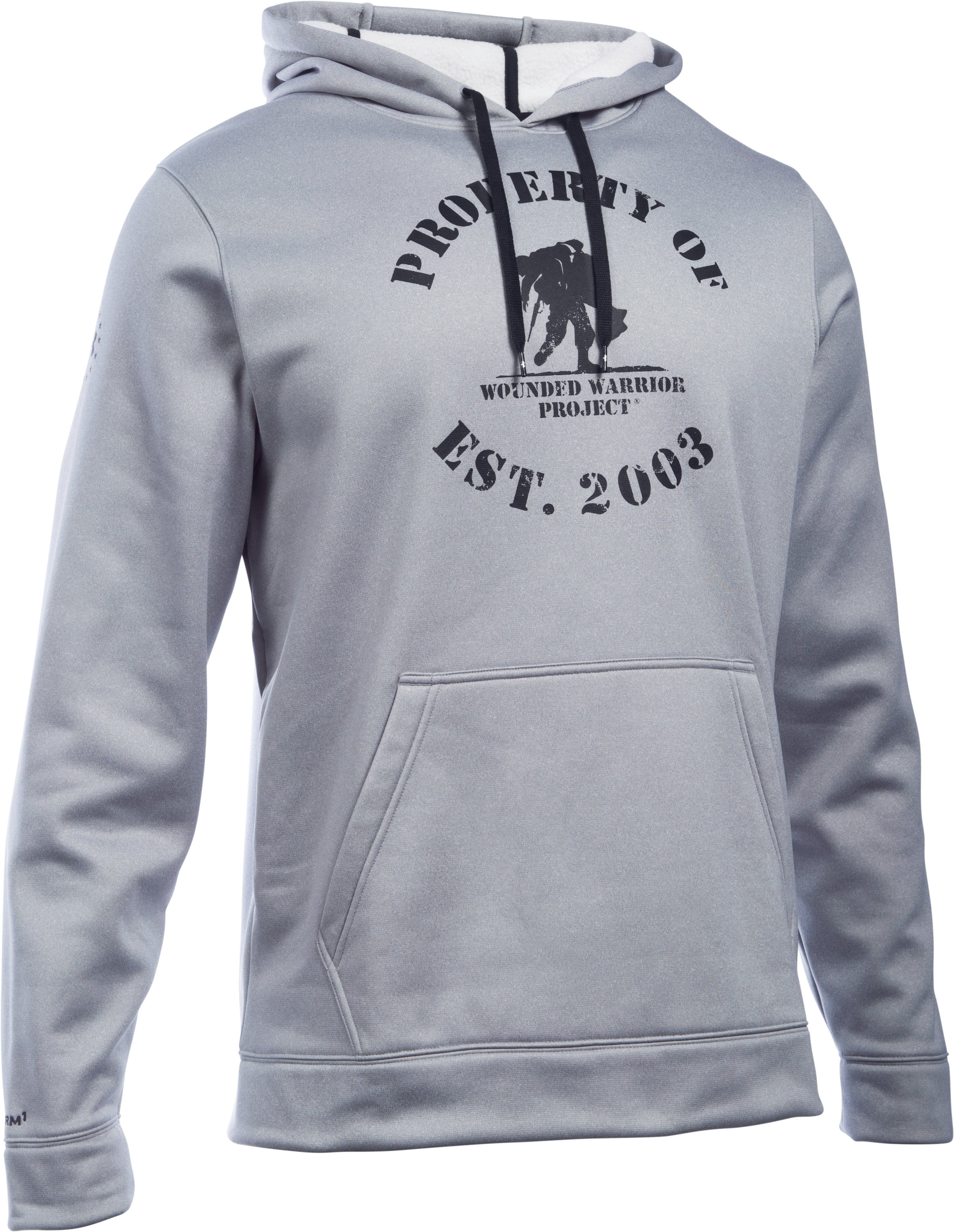 Men's UA Storm WWP Property Of Hoodie, True Gray Heather