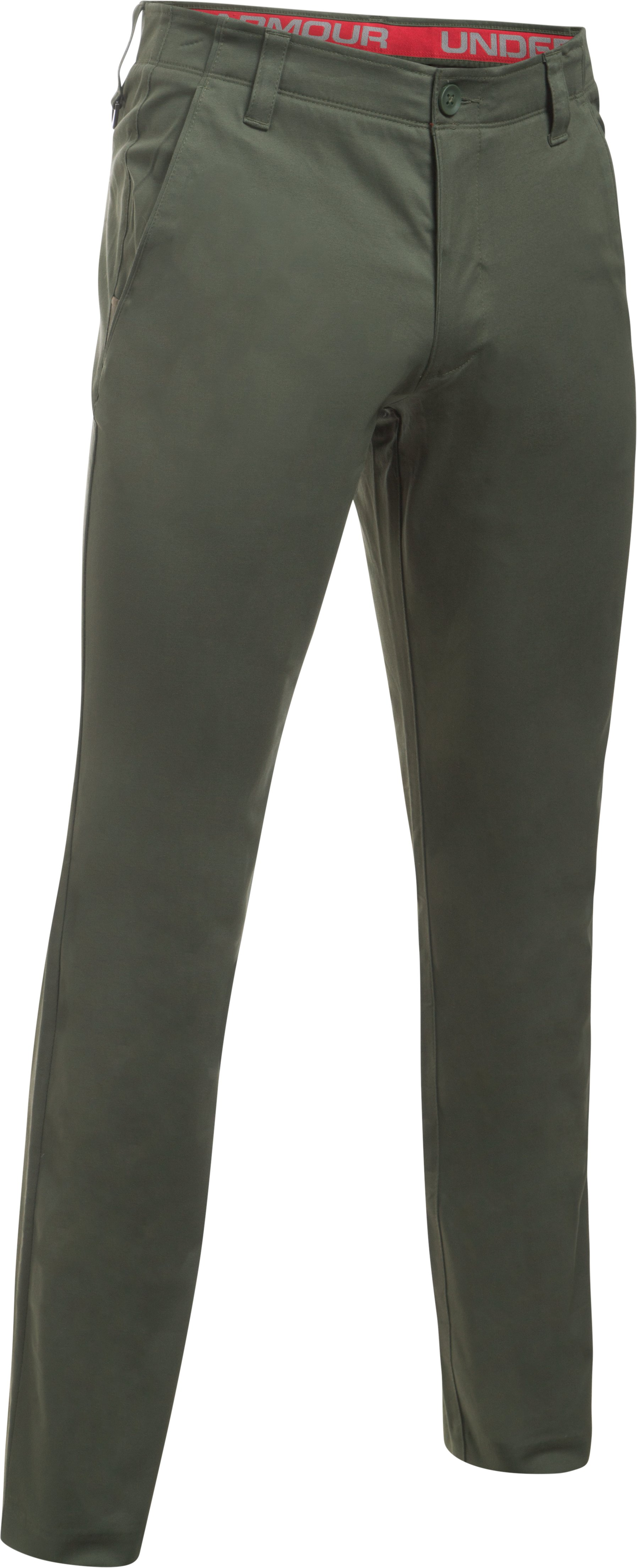 Men's UA Performance Chino — Tapered Leg, DOWNTOWN GREEN,