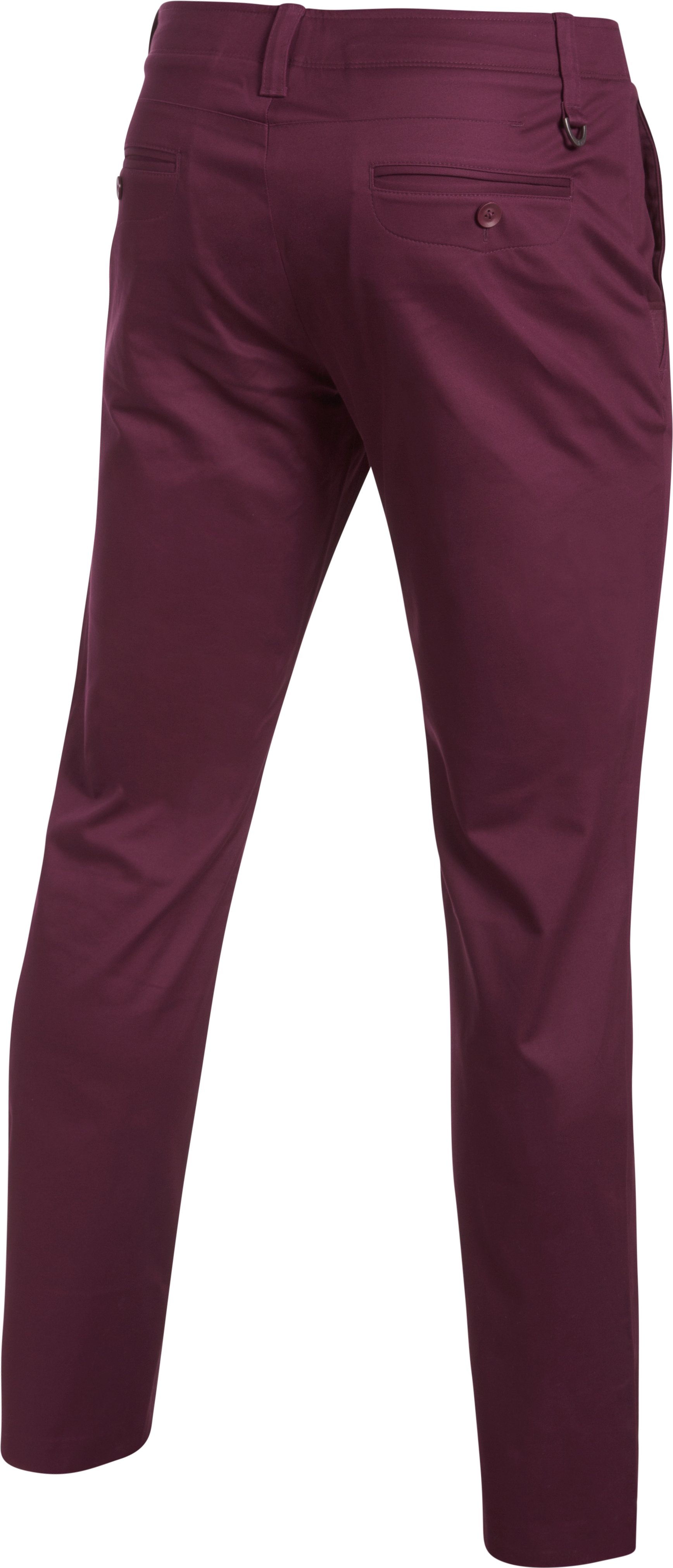 Men's UA Performance Chino — Tapered Leg, RAISIN RED, undefined