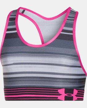 Girls' UA HeatGear® Armour Printed Bra  1 Color $14.99