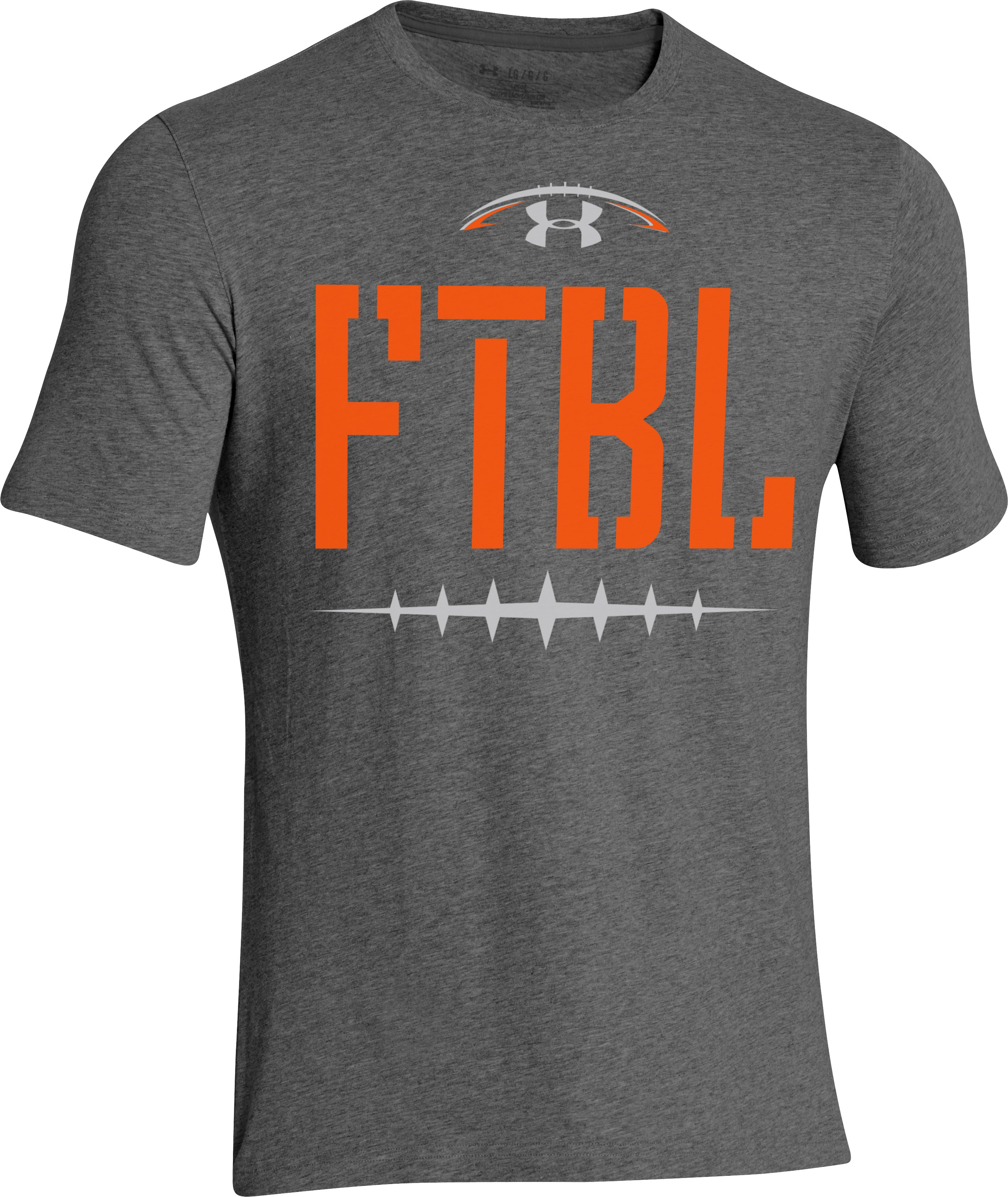 Men's UA FTBL Laces T-Shirt, Carbon Heather