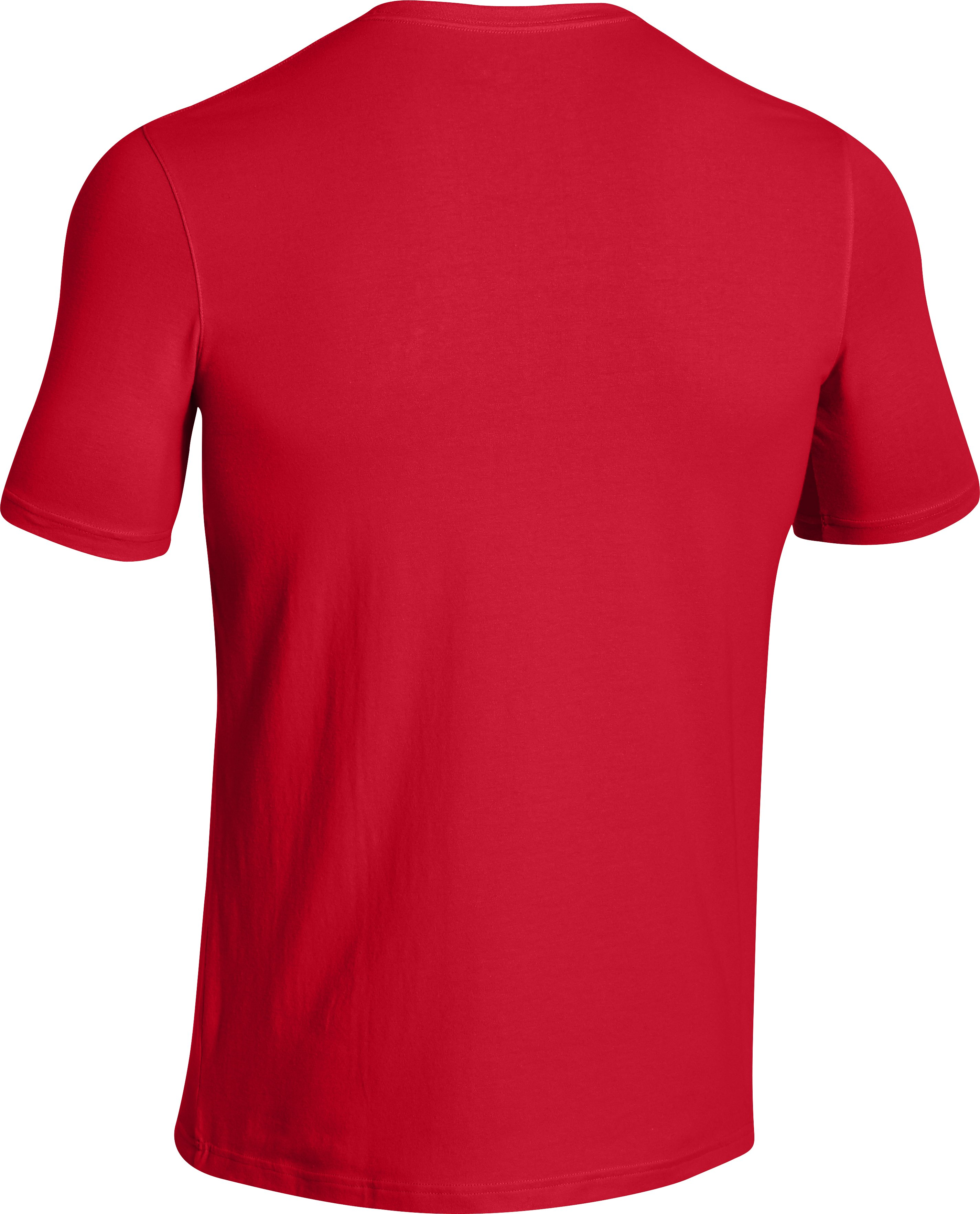 Men's UA Broad Stripes T-Shirt, Red, undefined