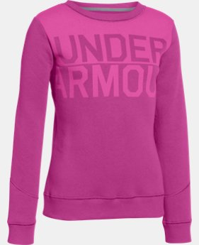 Girls' UA Rival Graphic Wordmark Crew   $26.99