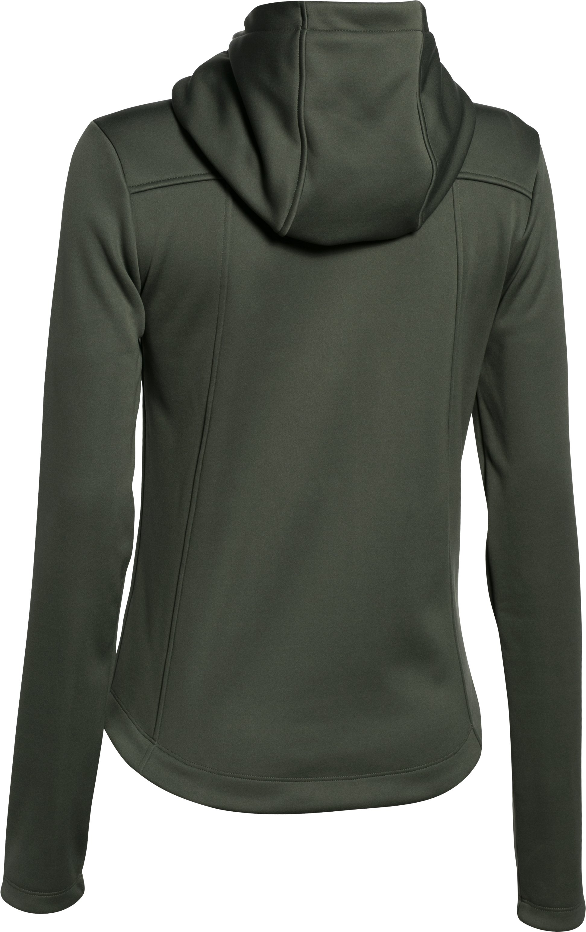 Women's UA Storm Wind Full Zip, DOWNTOWN GREEN