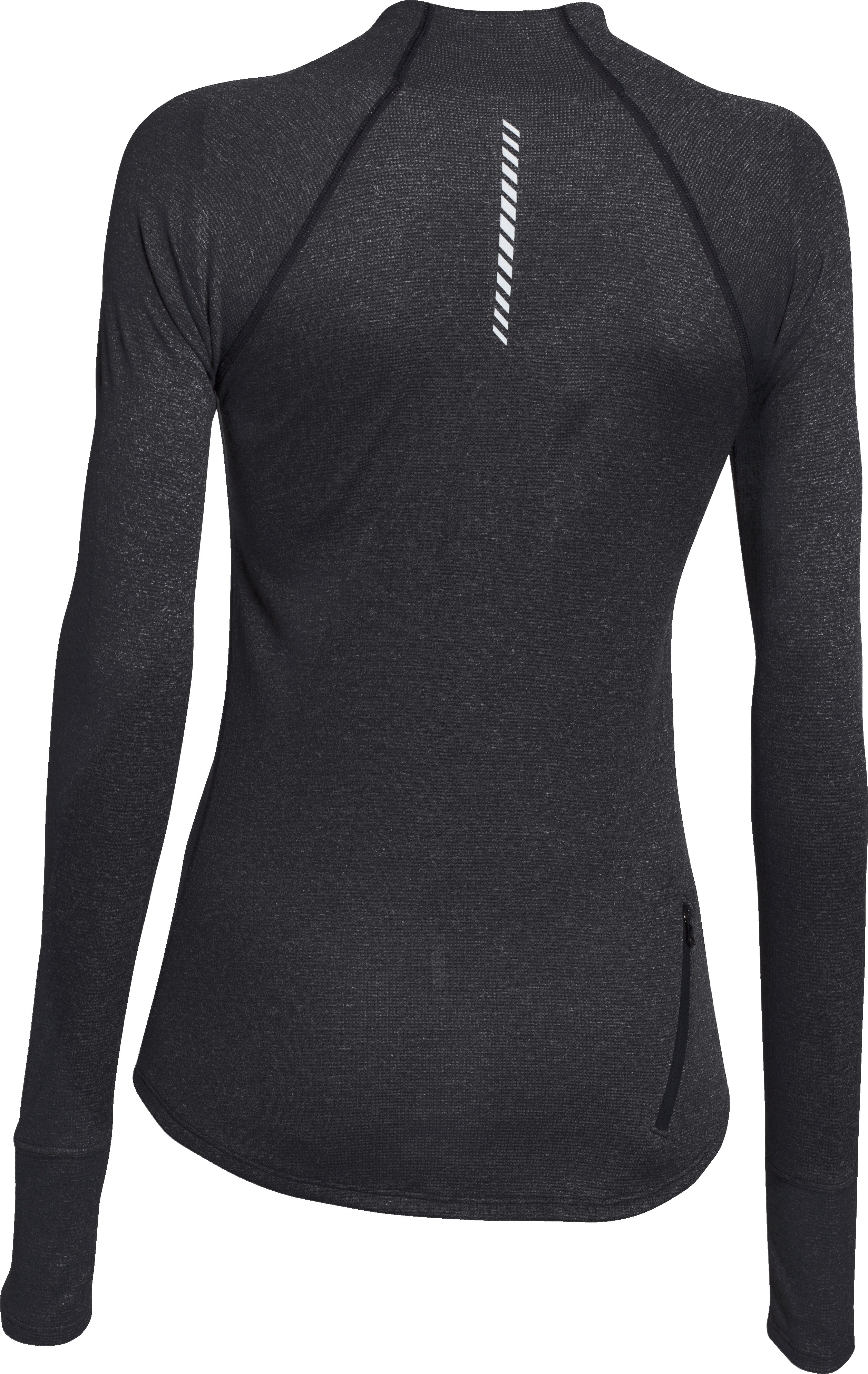 Women's UA Charged Wool 1/2 Zip, Black , undefined