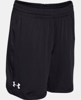 Best Seller Boy's UA Team Raid Shorts LIMITED TIME: FREE SHIPPING 4 Colors $19.99