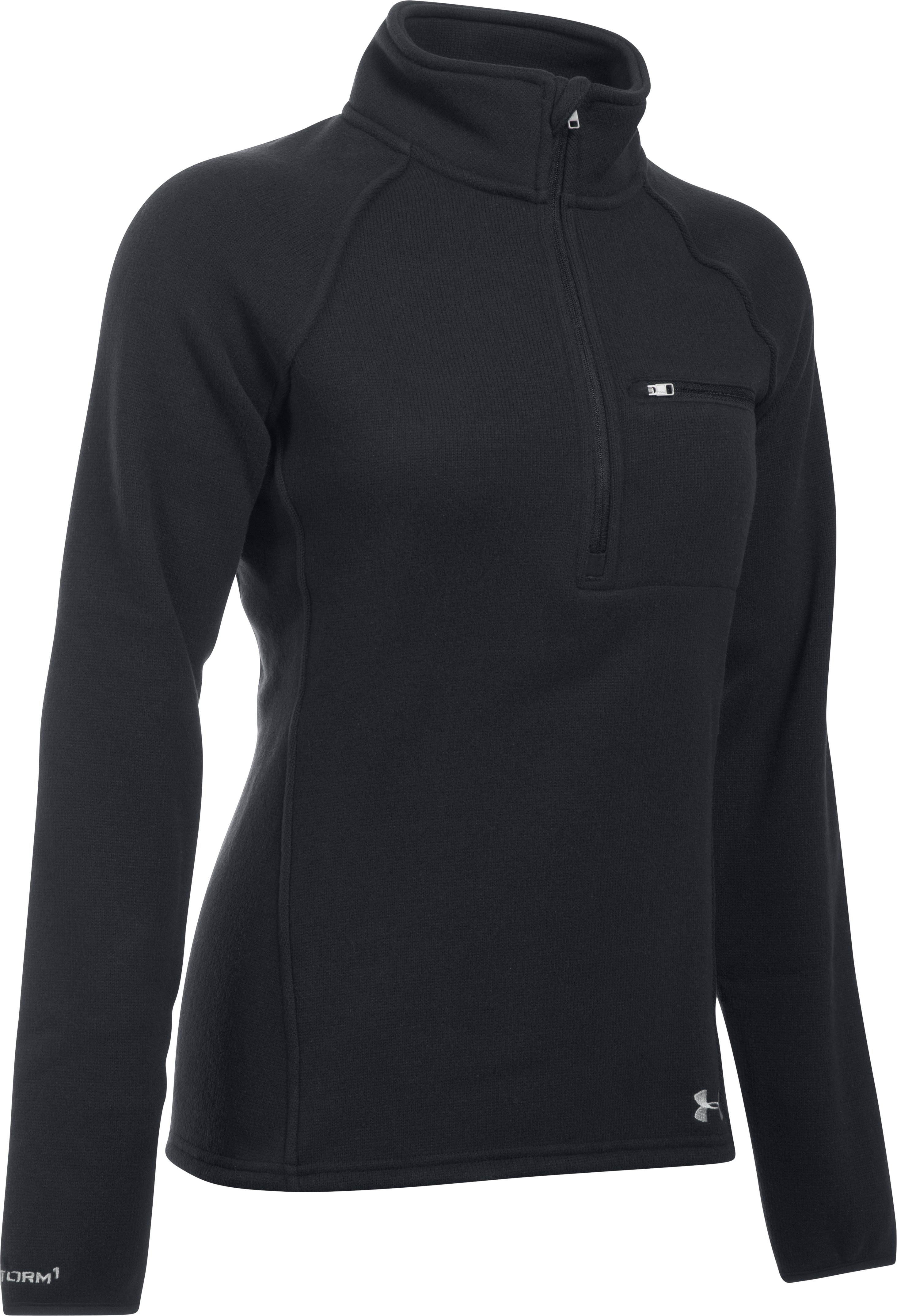 Women's UA Wintersweet 1/2 Zip, Black , undefined