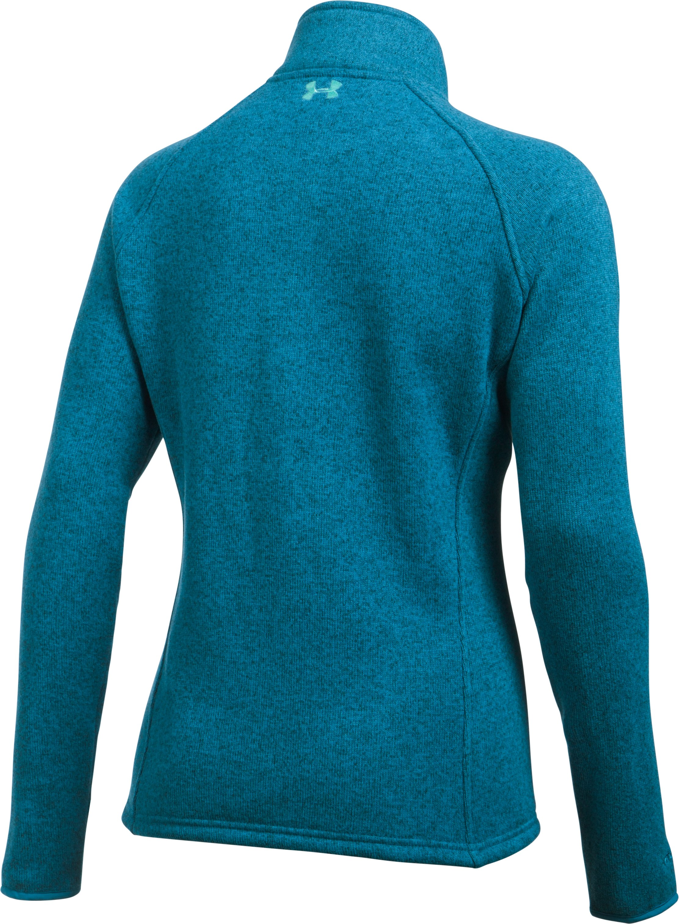 Women's UA Wintersweet 1/2 Zip, BAYOU BLUE