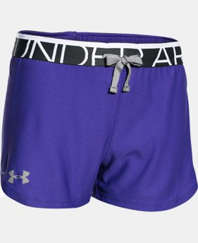 New Arrival Girls' UA Play Up Shorts  2 Colors $11.99 to $14.99