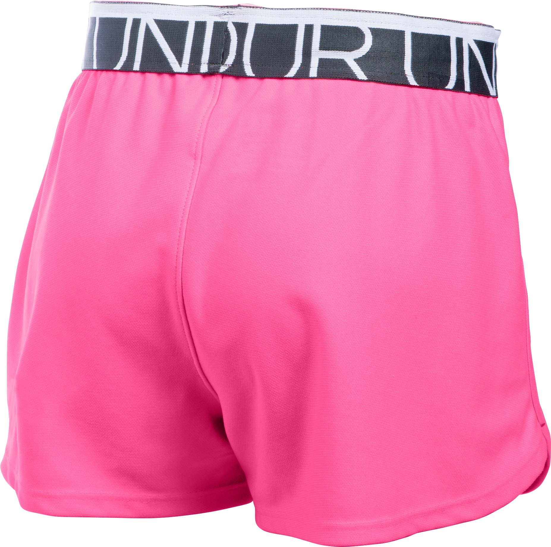 Girls' UA Play Up Shorts, PINK PUNK