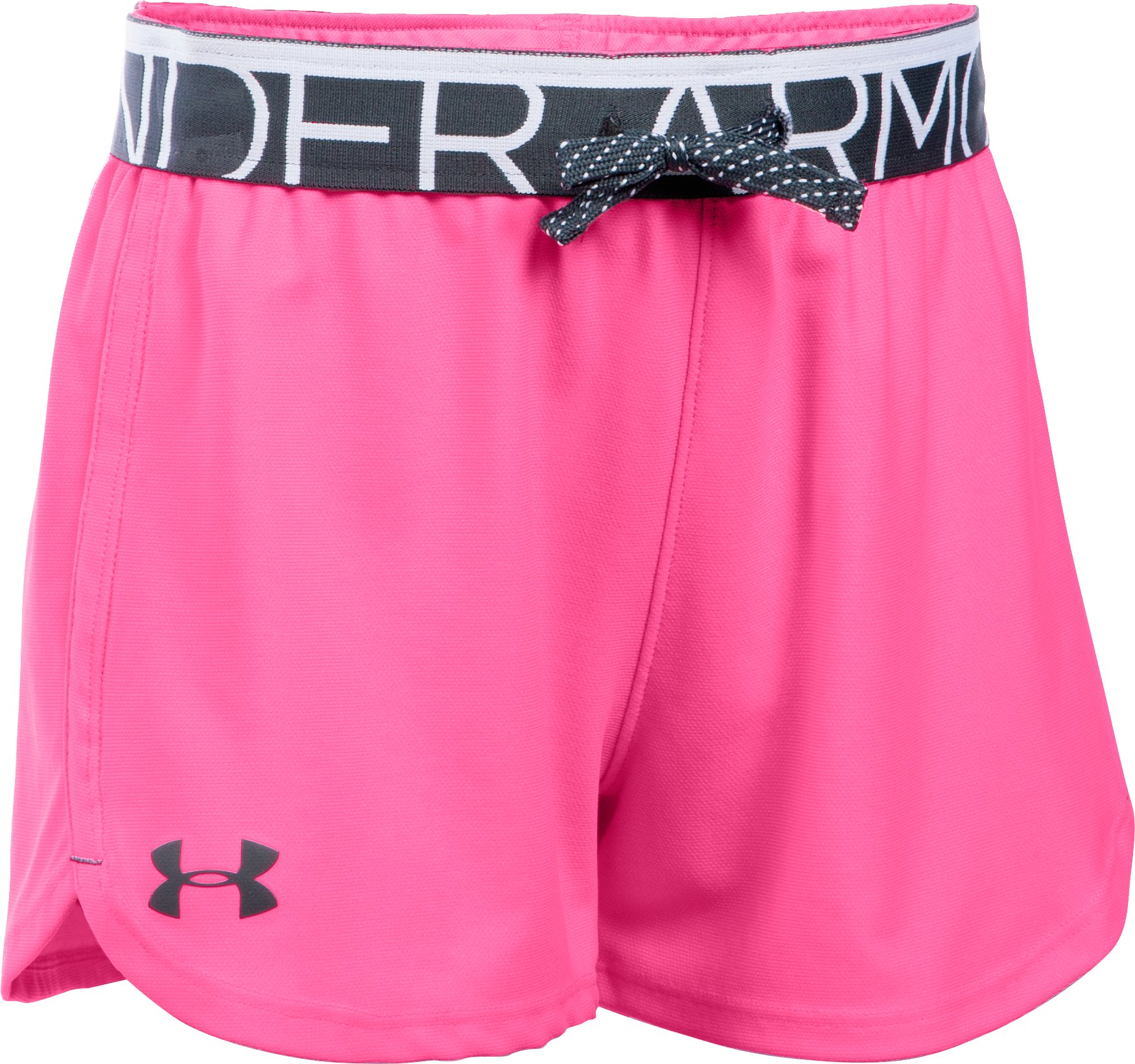 Girls' UA Play Up Shorts, PINK PUNK, zoomed image
