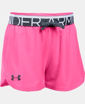 New Arrival Girls' UA Play Up Shorts   $19.99