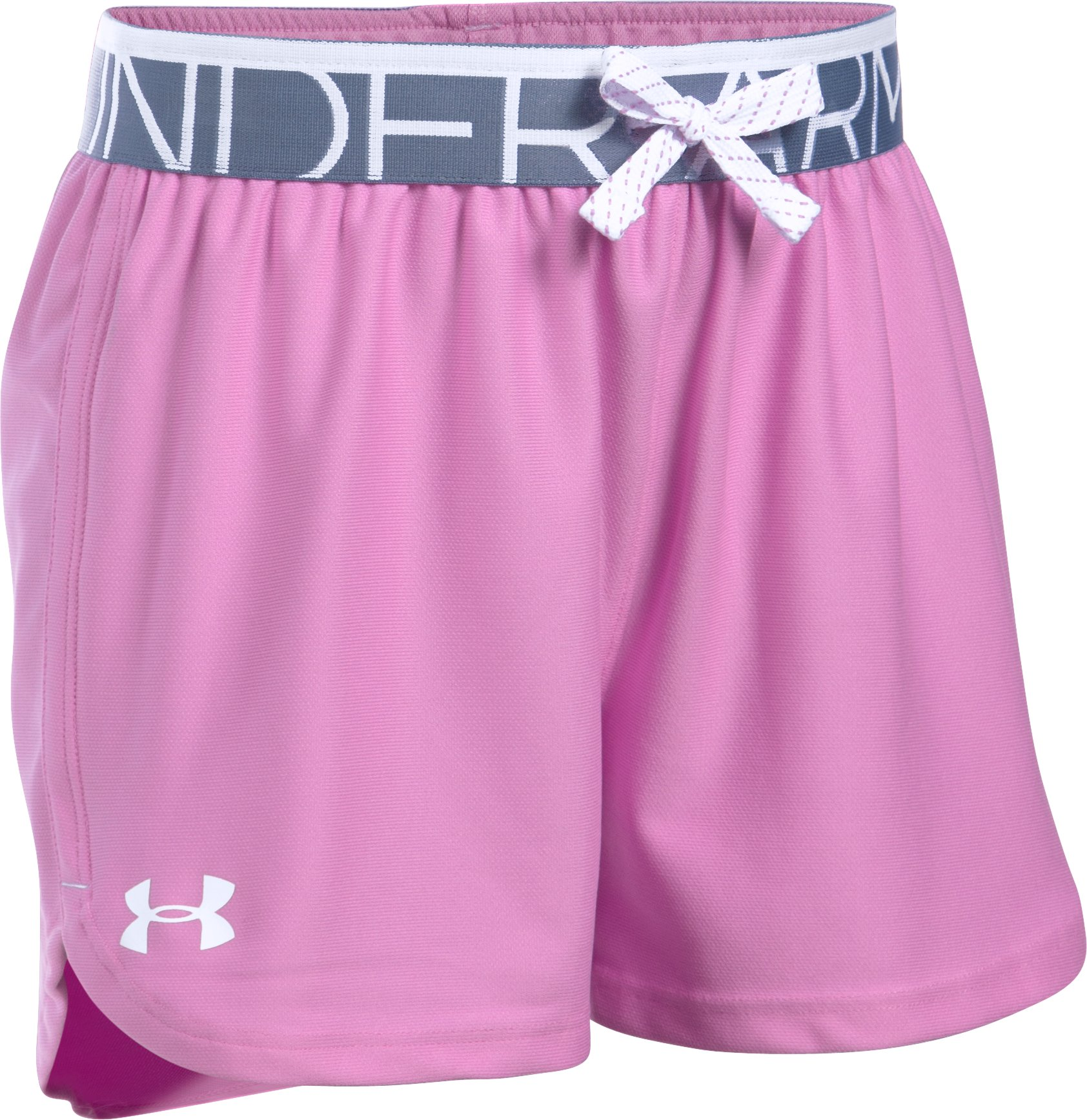 Girls' UA Play Up Shorts - 3 for $35, VERVE VIOLET, undefined