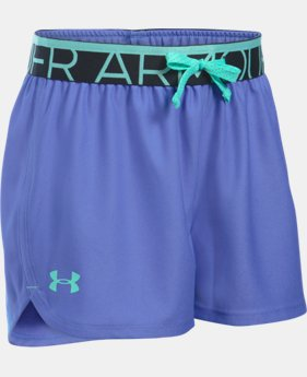 Girls' UA Play Up Shorts LIMITED TIME: FREE U.S. SHIPPING 2 Colors $19.99