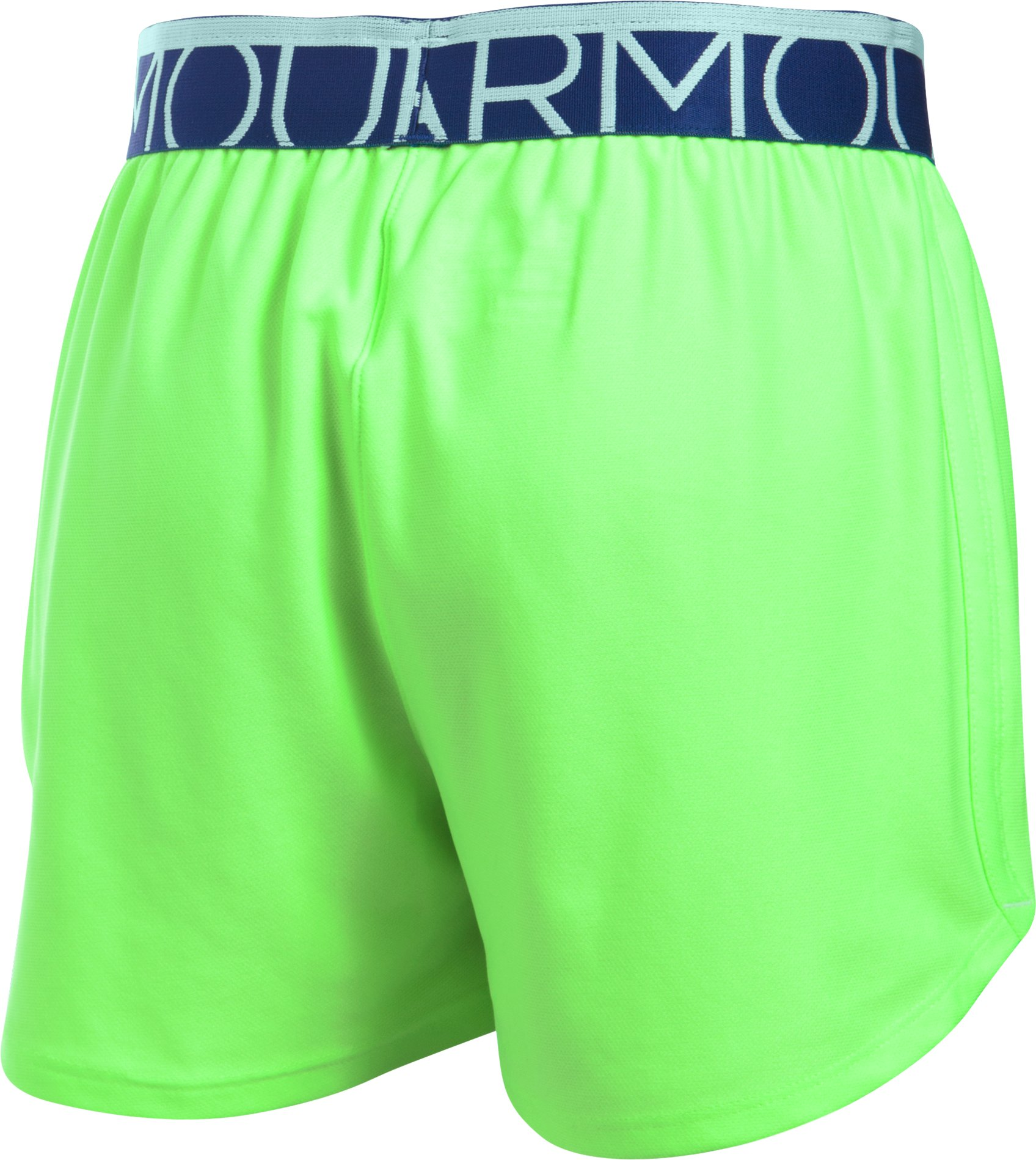 Girls' UA Play Up Shorts - 3 for $35, LIME LIGHT, undefined