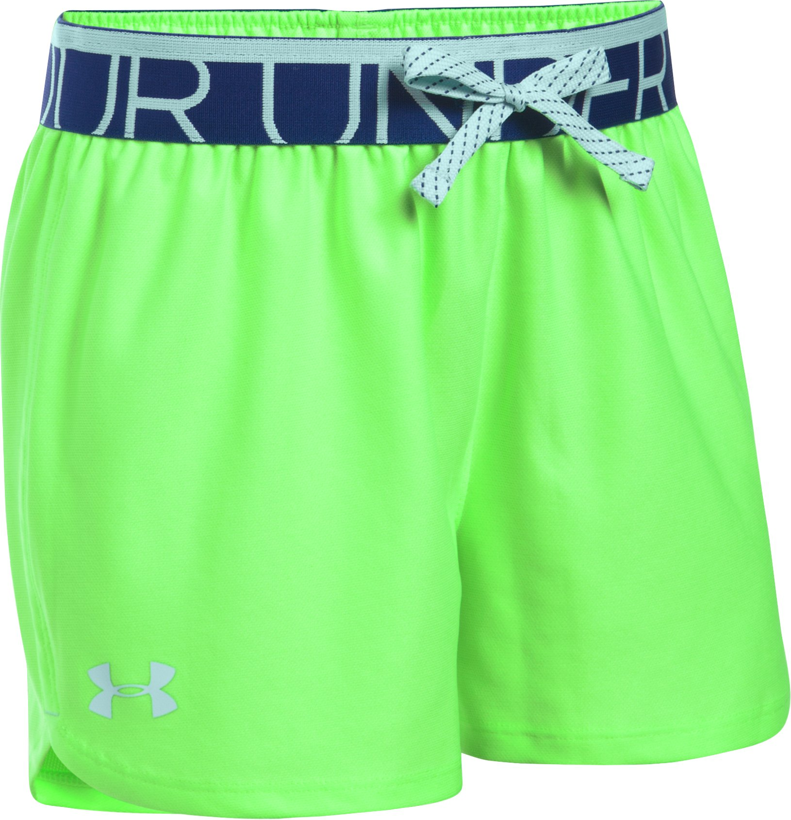 Girls' UA Play Up Shorts - 3 for $35, LIME LIGHT