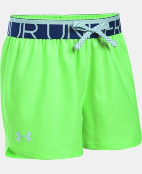 Best Seller Girls' UA Play Up Shorts LIMITED TIME: FREE SHIPPING 1 Color $19.99