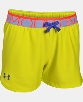 New Arrival Girls' UA Play Up Shorts  2 Colors $8.99 to $14.99
