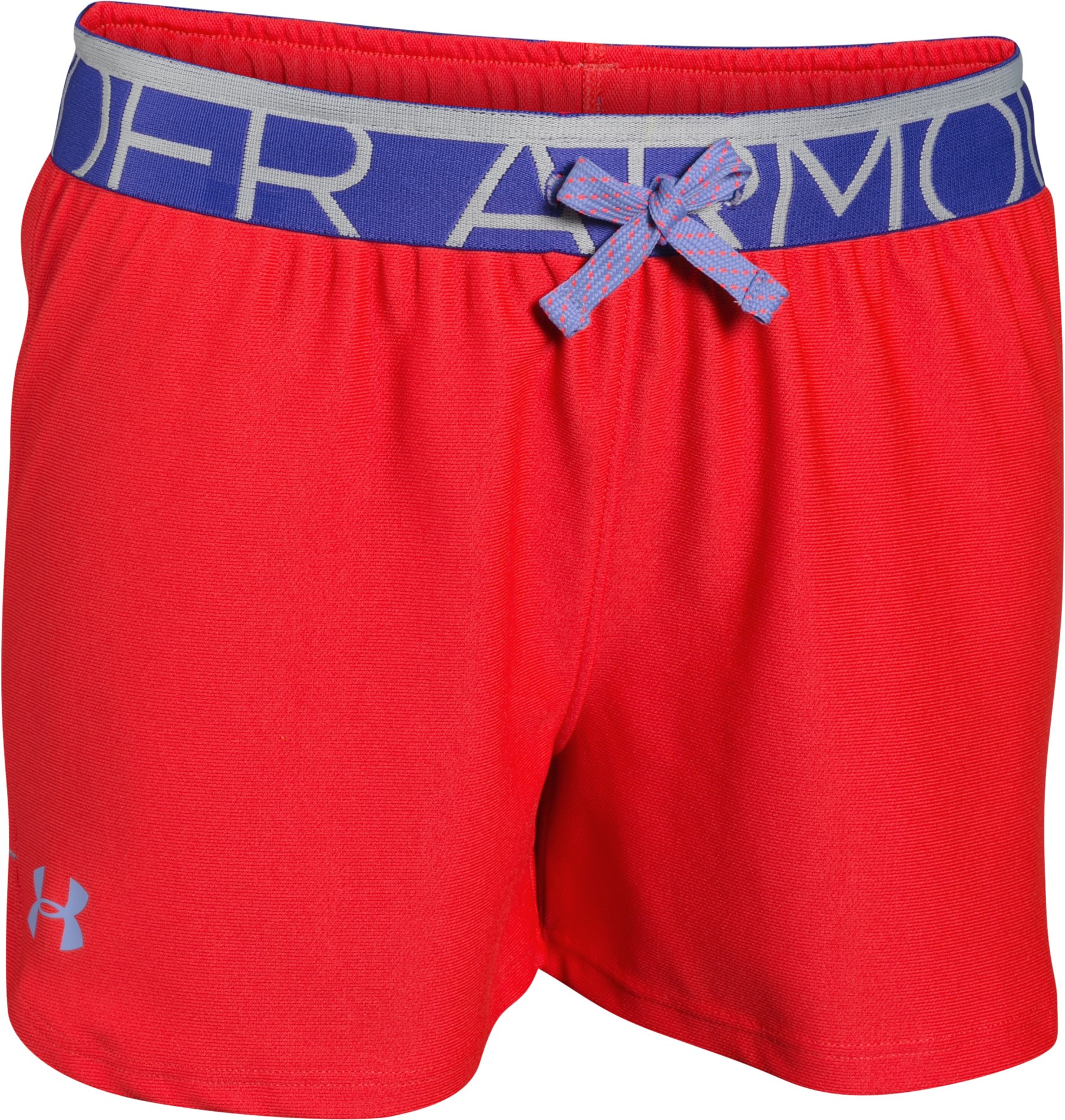 Girls' UA Play Up Shorts - 3 for $35, ROCKET RED, zoomed image