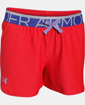 New Arrival Girls' UA Play Up Shorts  1 Color $11.99 to $14.99