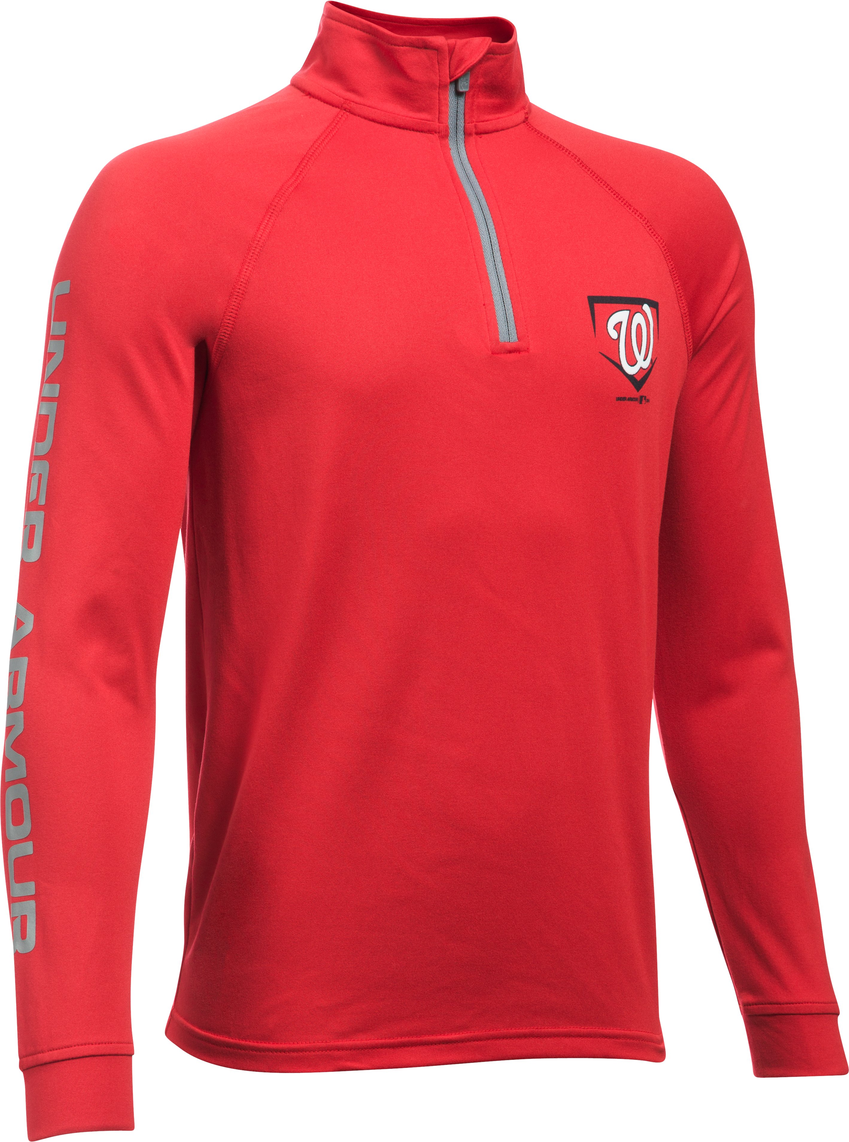 Boys' Washington Nationals UA Tech™ ¼ Zip, Red