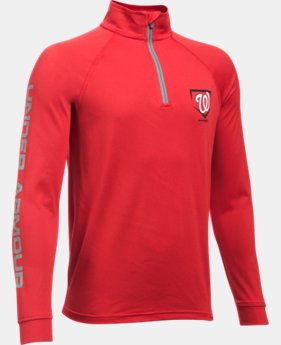 Boys' Washington Nationals UA Tech™ ¼ Zip  1 Color $25.49