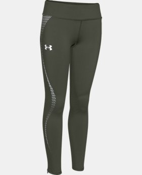 Girls' UA ColdGear® Reflective Leggings  2 Colors $31.49