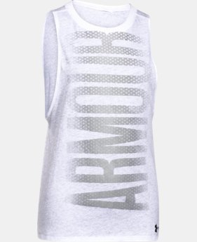 Girls' UA Studio Sport Tank  1 Color $18.99