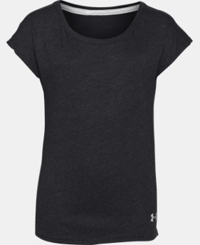 Girls' UA Studio Sport Charged Cotton® Tri-Blend T-Shirt LIMITED TIME: FREE U.S. SHIPPING 1 Color $12.74 to $20.99