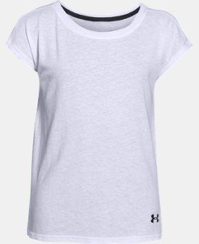 Girls' UA Studio Sport Charged Cotton® Tri-Blend T-Shirt   $16.99