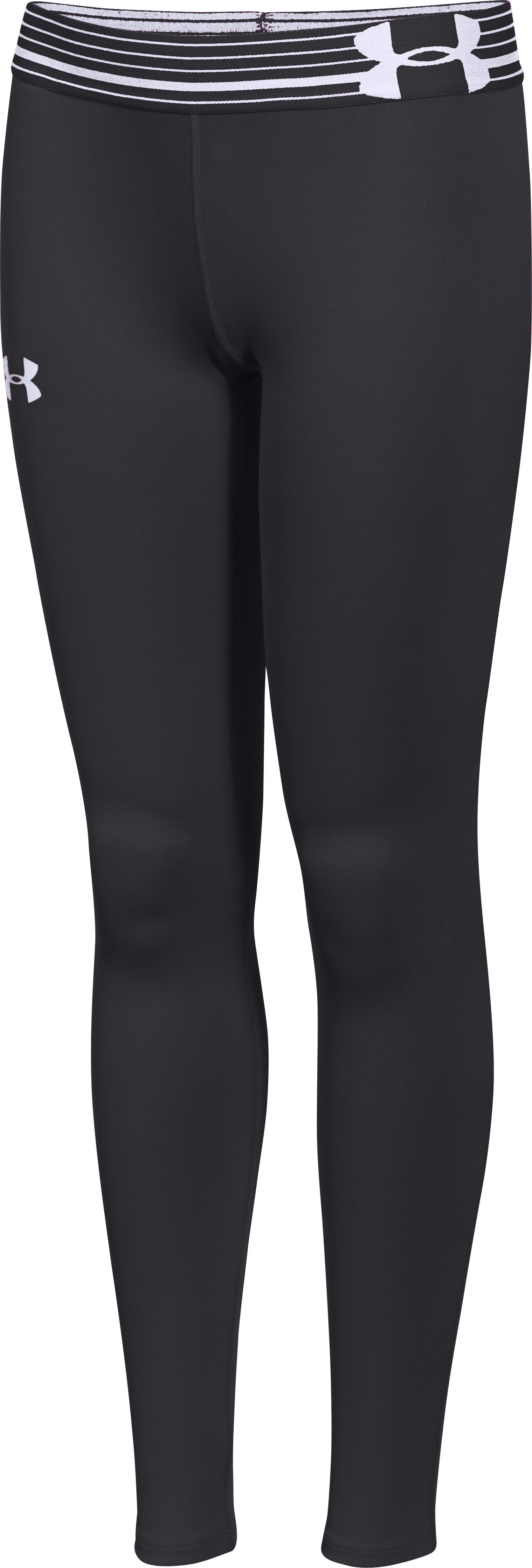 Girls' UA HeatGear® Armour Legging, Black , undefined